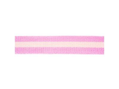 Gurtband ca. 40 mm - Streifen - rosa