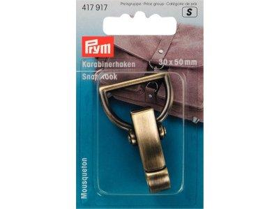 Prym breiter Karabinerhaken Metall 30x50 mm - altgold