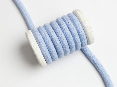 Baumwoll Kordel / Band Hoodie / Kapuze Ø 10 mm - uni helles blau