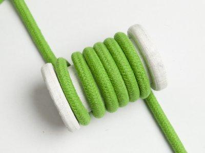 Baumwoll Kordel / Band Hoodie / Kapuze Ø 10 mm - uni grün