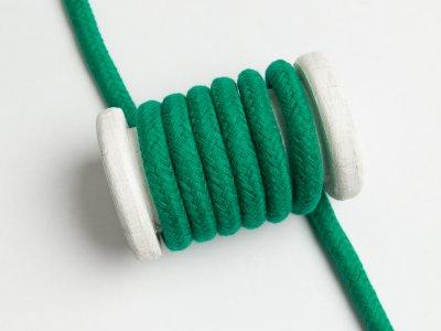 Baumwoll Kordel / Band Hoodie / Kapuze Ø 10 mm - uni dunkles grün