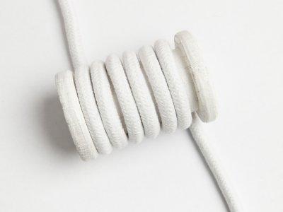 Baumwoll Kordel / Band Hoodie / Kapuze Ø 10 mm - uni weiß