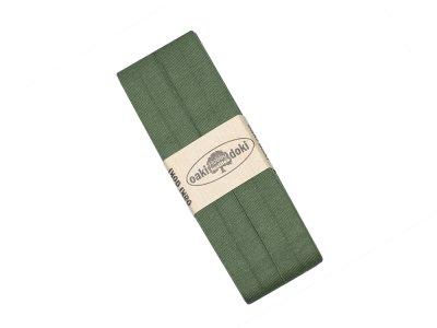 Jersey Schrägband Oaki doki gefalzt 20 mm x 3 m - tannengrün