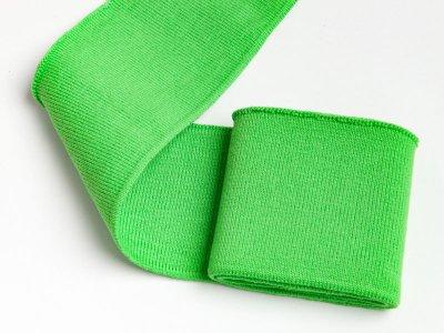Elastisches Bündchen - Uni - apfelgrün