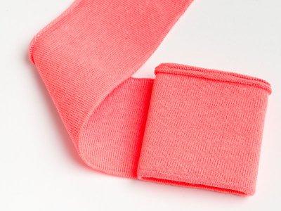 Elastisches Bündchen - Uni - neon pink