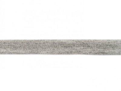 Jersey-Schrägband 20mm grau meliert