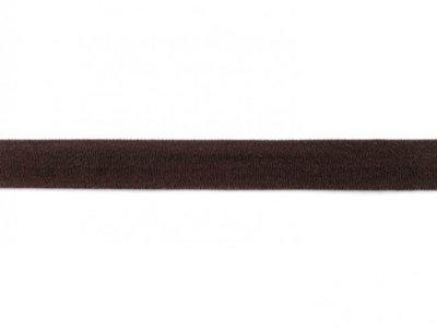 Jersey-Schrägband 20mm schokobraun