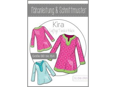 Papierschnittmuster ki-ba-doo Kira Tunika-Bluse Mädchen