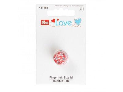 Fingerhut Gr. M Prym Love - rot