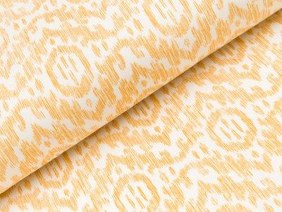 Sweat French Terry - Boho Ornamente - wollweiß/gelb