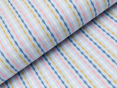 Sweat French Terry - Streifen - blau