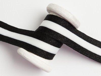 Hosenstreifen mit Glitzer - Streifen - schwarz/weiß