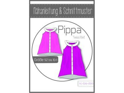 Papierschnittmuster ki-ba-doo Pippa Tunika-Kleid-Bluse Mädchen