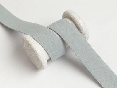 Gummiband weich ca. 25mm - uni helles grau