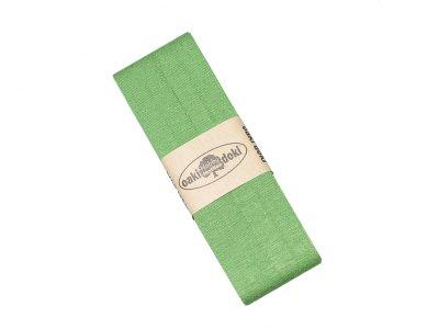Jersey Schrägband Oaki doki gefalzt 20 mm x 3 m - grün