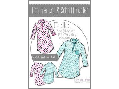 Papierschnittmuster ki-ba-doo Calla Polo-Hemd-Bluse Mädchen