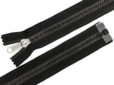 Reißverschluss  teilbar 80 cm - schwarz