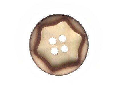 Echt Steinnuss, Runder Knopf creme 21 mm