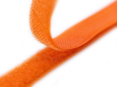 Klettband zum Aufnähen Flauschband & Hakenband ca. 20 mm - neonorange