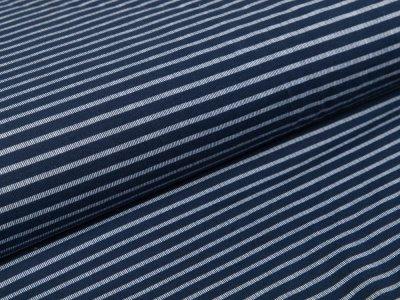 Jersey - Streifen - dunkelblau