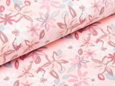 Sweat French Terry - Sternblumen - rosa