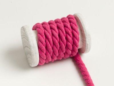 Gedrehte Baumwoll Kordel / Band Hoodie / Kapuze Ø 8 mm uni pink