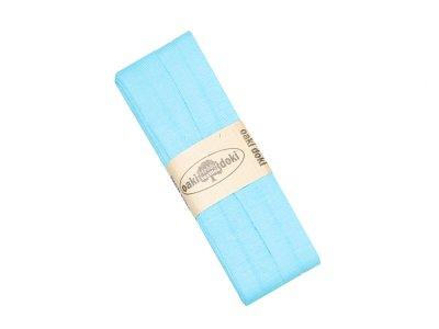 Jersey Schrägband Oaki doki gefalzt 20 mm x 3 m - türkis