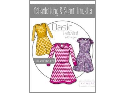 Papierschnittmuster ki-ba-doo BASIC Winterkleid Mädchen