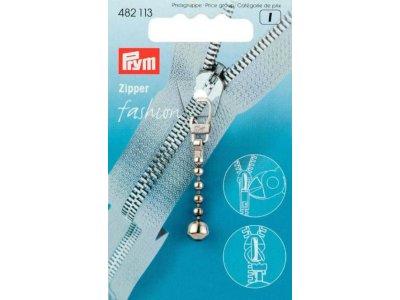 Prym Fashion-Zipper Kugelkette - silberfarben