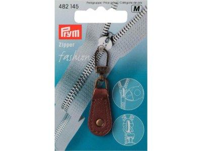 Prym Fashion-Zipper Leder - braun
