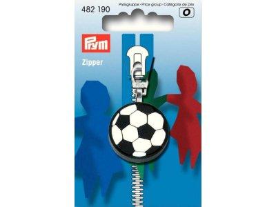 Prym Fashion-Zipper für Kinder Fussball - schwarz