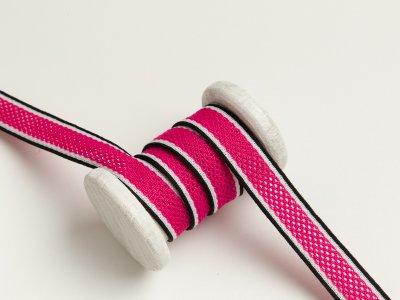 Elastischer Hosenstreifen mit Netz - pink