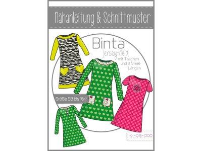 Papierschnittmuster ki-ba-doo Binta A-Linien-Jersey-Kleid Mädchen