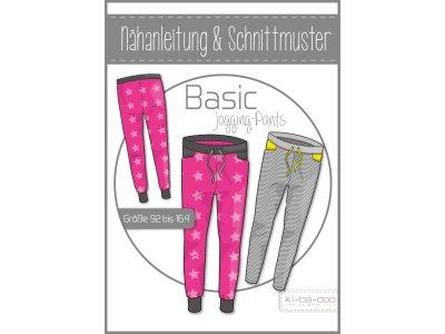 Papierschnittmuster ki-ba-doo BASIC Jogging Pants Mädchen
