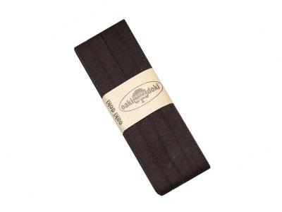 Jersey Schrägband Oaki doki gefalzt 20 mm x 3 m - braun
