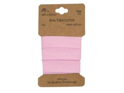 Schrägband/Einfassband Baumwolle gefalzt 20 mm - 3 m Coupon - uni pastellrosa