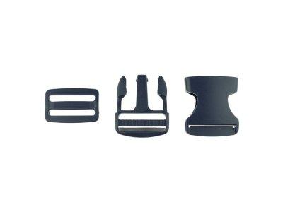 Steckverschluss Kunststoff ca. 3,8cm - nachtblau