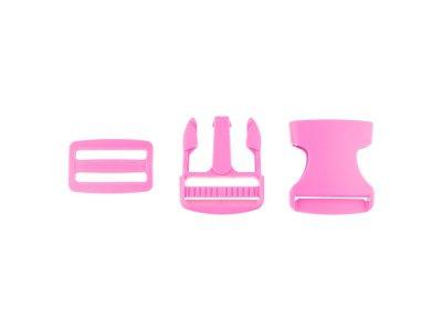 Steckverschluss Kunststoff ca. 3,8cm - pink