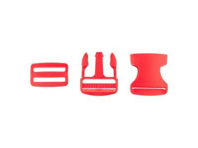 Steckverschluss Kunststoff ca. 3,8cm - rot