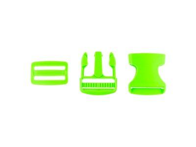 Steckverschluss Kunststoff ca. 3,8cm - grün
