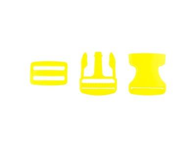 Steckverschluss Kunststoff ca. 3,8cm - gelb