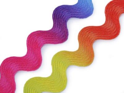 Zackenlitze Breite 10 mm - Regenbogen - multicolor