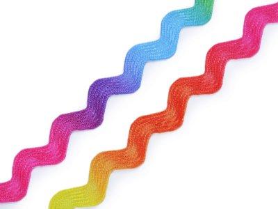 Zackenlitze Breite 6 mm - Regenbogen - multicolor
