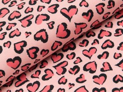 Jersey - Herzen - rosa