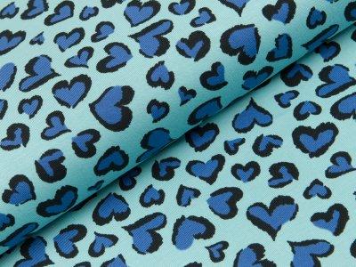 Jersey - Herzen - blau