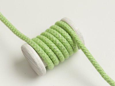 Baumwoll Kordel / Hoodie-Band mit Lurex Ø 10 mm - helles grün