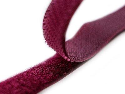 Klettband zum Aufnähen Flauschband & Hakenband ca. 20 mm - bordeaux