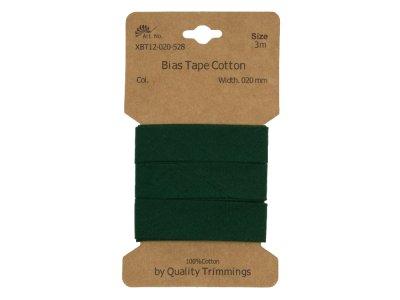 Schrägband/Einfassband Baumwolle gefalzt 20 mm - 3 m Coupon - uni flaschengrün