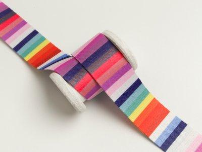 Gurtband 35mm - Streifen - multicolor
