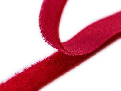 Klettband zum Aufnähen Flauschband & Hakenband ca. 20 mm - rot